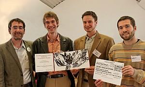 Wolfgang Krauß (Mitbegründer des MCN), Tim Huber (Director), Michael Sharp (ehem. Director) und Dan Herschberger (Case Worker)