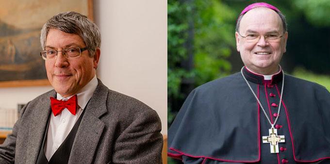 Neue ACK-Vorstandsmitglieder: Landesbischof Friedrich Kramer (li.) und Bischof Dr. Bertram Meier © Foto: ekmd.de und bistum-augsburg.de